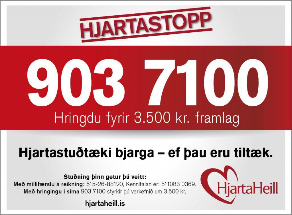 Enn er hægt að styrkja Hjartaheill